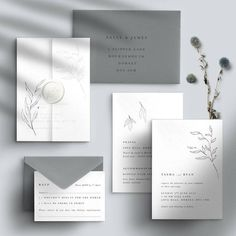 Are you interested in our grey wedding invitation? With our modern calligraphy wedding invitation you need look no further. invites elegant dreamy wedding invitation by confetti designs Minimalist Wedding Invitations, Destination Wedding Invitations, Simple Wedding Invitations, Wedding Invitation Wording, Elegant Wedding Invitations, Wedding Stationery, Wedding Planning, Letterpress Wedding Invitations, Invitation Set