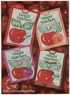 Weight Watchers Fruit Snacks.  1970s...I remember my mom buying these when I was a kid.