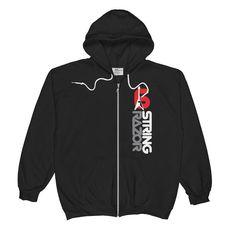 Unisex Zip Hoodie six string razor jacket with blues hall juke joint back Hoodies, Sweatshirts, Zip Hoodie, Metallica, Zip Ups, Blues, Unisex, Sweaters, Cotton