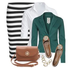 another way to wear my black and white skirt.  The jacket would be better in another color.