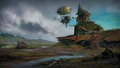 ArtStation - The Zeppelin Port, andre pinheiro