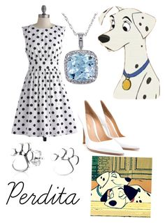 """Perdita"" by krusi611 ❤ liked on Polyvore featuring moda, Emily and Fin, Amour, Gianvito Rossi, Bling Jewelry e Disney"