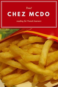 FREE! Reading for French learners about McDonald's and how it is different from the American version of the restaurant.