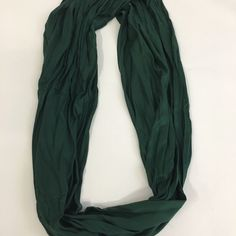 Infinity Scarf Very soft, forest green infinity scarf. Never worn. Accessories Scarves & Wraps