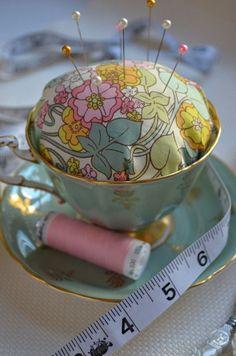 Tea Cup Pin Cushion 1