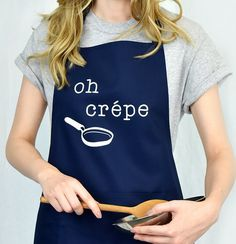 Oh Crepe Apron - Funny Apron - Women's Apron - Bake Off - Cooking - Bakers Gifts - Gift for Friend - Funny Gift - Gift for Chef [BAPRN-002] by EllieEllieltd on Etsy https://www.etsy.com/listing/279715690/oh-crepe-apron-funny-apron-womens-apron