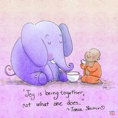 Joy is being together. Buddha Doodle by @Mollycules