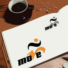 Criação de logotipo para a Move Assessoria Esportiva por Foco Design & Gráfica.