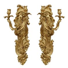 1stdibs   Pair of Rococo Bras de Lumiere (Sconces)
