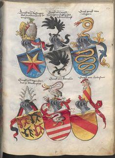 Grünenberg, Konrad: Das Wappenbuch Conrads von Grünenberg, Ritters und Bürgers zu Constanz um 1480 Cgm 145 Folio 142