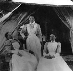 In 1898, nurses served at theYellow Fever Hospital, Franklin, Lousiana.