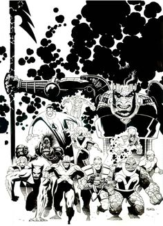 The X-Men and the Fantastic Four by Mike Mignola