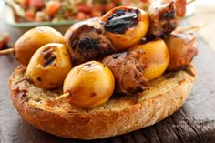 Yenidünyalı Tavuk Şişler - ummm, chicken & loquat  kabob?