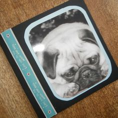 Pug Love you to the moon and back card by onelittlepug on Etsy