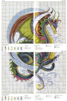 Handarbeiten Celestial Dragon cross stitch chart Caring Of A Tie If a tie could speak, it would impl Dragon Cross Stitch, Fantasy Cross Stitch, Small Cross Stitch, Beaded Cross Stitch, Cross Stitch Animals, Cross Stitch Embroidery, Cross Stitch Fairy, Cross Stitch Moon, Cross Stitch Bookmarks