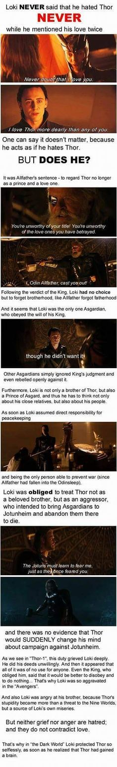 God of mischief biggest lie is hating his brother