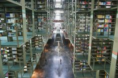 José Vasconcelos Library, Mexico City, Mexico. Wow. Book Warehouse. Book Paradise. Call it whatever you want.