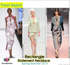 Rectangle Statement #Necklace Jewellery Trend for Spring Summer 2014 #spring2014 #trends #Jewelry