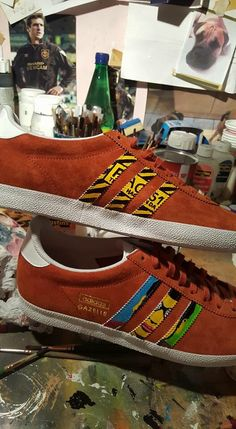 2b7308ac7d4e Another pair of  handpainted  adidas.  manchester Email me at  cashythepainter gmail.com for info