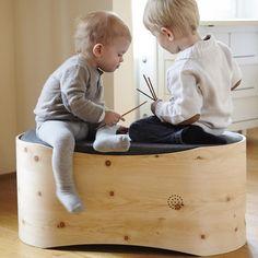 Aufrichtig Babywiege Handarbeit Holz Zustellbett Möbel Betten