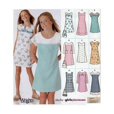 d3e6b0de41 Girls Plus Size Pullover Jumper or Dress Sewing Pattern, Design your Own 9  Great Looks