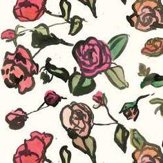 Roses Ink Pink Fabric, edit