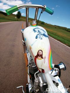 Jesus stabs a Unicorn - NYDucati Funny Motorcycle Pictures from Tigho