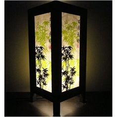 Amazon.com: Thai Vintage Handmade ASIAN Oriental Japanese Bamboo Trees Bedside Table Lanna Paper Lamp Wood Shades Lights Home Decor Bedroom Decoration: Home & Kitchen