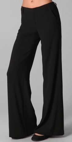 Alice + Olivia Wide Leg Tuxedo Trousers - StyleSays