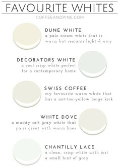 Rustic and cozy home decor with splashes of paint colour schemes, simple DIY'. - Home Decor -DIY - IKEA- Before After Best Paint Colors, Paint Colors For Home, Wall Colors, House Colors, Paint Colours, Off White Paint Colors, Cream Paint Colors, Off White Paints, Best White Paint