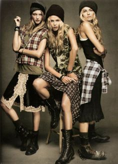This is a modern interpretation of 1990's women's fashion.