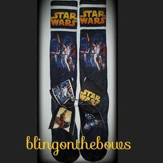 STAR WARS SOCKS AND BOW SET | bling on the bows custom cheer bows