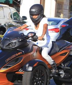 Jada Pinkett-Smith hopped onto her Can-Am Roadster earlier this week in Los Angeles.