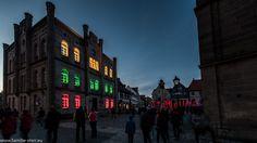Kronach Leuchtet 2016 - Lichtinstallation am Melchior Otto Platz in Kronach