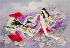 kimonos japan painting - Pesquisa Google