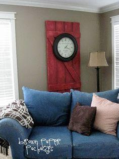 barn door decor plus DIY