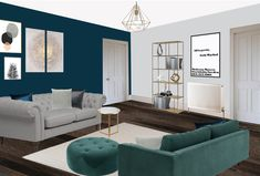 Visual of apartment living room South London. Apartment Living, Living Room, South London, Couch, Furniture, Home Decor, Style, Swag, Settee
