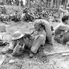 Ralph Morse—Time & Life Pictures/Getty Images U.S. Marines, Guadalcanal, 1942.