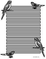 Wellensittich Briefpapier