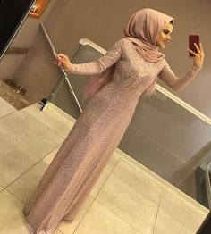 Image may contain: 1 person, standing Hijab Evening Dress, Hijab Dress Party, Hijab Wedding Dresses, Evening Dresses, Abaya Fashion, Muslim Fashion, Modest Fashion, Fashion Dresses, Kebaya Dress