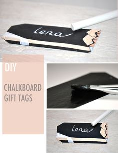 Or make chalkboard gift tags: | 24 Cute And Incredibly Useful Gift Wrap DIYs