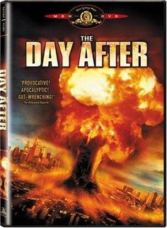 The Day After, released 1983 - TV Movie Directed by Nicholas Meyer Starring Jo Beth Williams, Steve Guttenberg, Jason Robards, John Lithgow. Effects of a nuclear holocaust. William Allen Young, Satan, Jobeth Williams, Post Apocalyptic Movies, Steve Guttenberg, John Lithgow, Disaster Movie, Movie Posters