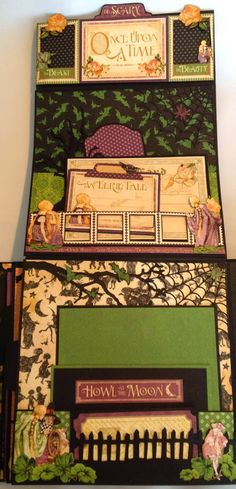Graphic 45 An Eerie tale scrapbooking mini album and house stand tutorial - By Anne Rostad