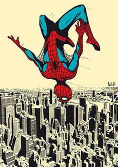 Chris Thornley Spiderman - I keep finding Super Heroes everywhere. Now, you really are a super hero. Comic Book Characters, Comic Character, Comic Books Art, Comic Art, Book Art, Character Design, Marvel Comics, Marvel Vs, Marvel Heroes