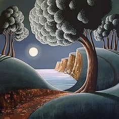 """The Antrim Coast, Ireland"" by George Callaghan, Irish Artist living in Tasmania ...."