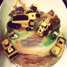 construction theme birthday cake | Construction themed birthday cake for our sweetest little ... | hunter