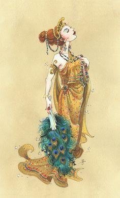 Jeff Davis Illustration: Greek Goddess ~ Hera