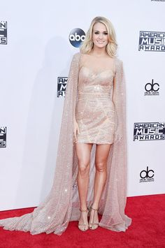 Pin for Later: You Have to See the Outrageous Red Carpet Moments at the AMAs Carrie Underwood Wearing Elie Madi.