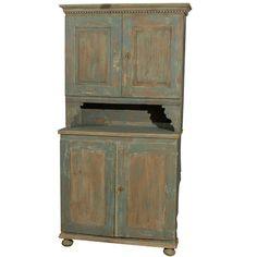 Swedish 18th Century Late Gustavian Cabinet with Original Paint 1
