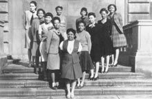 Don't you just love these throwback college pics?  Delta Sigma Theta chapter at University of Pittsburgh 1946.  Three awesome photographs (wall art) of University of Pittsburgh can be found here:  http://university-icons.artistwebsites.com/art/all/university+of+pittsburgh/all